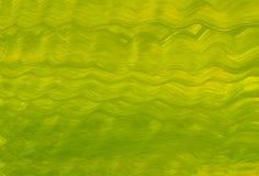 Зеленого цвета волны лета море текстуры пестротканого желтое абстрактное развевает голубое illustratio кисти иллюстрация вектора