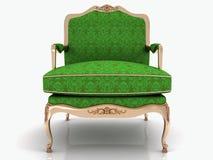 Зеленое классическое стильное кресло Стоковые Фотографии RF