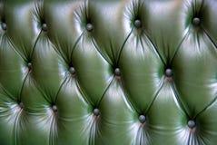 зеленое кожаное драпирование текстуры Стоковая Фотография RF