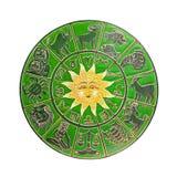 Зеленое колесо horoscope Стоковые Фото