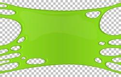 Зеленое липкое знамя шлама с космосом экземпляра иллюстрация штока