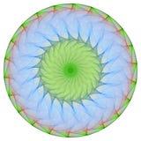 зеленое мандала Стоковые Фото