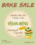 Зеленое меню vegan печет рогульку продвижения продажи с пирожным мяты бесплатная иллюстрация