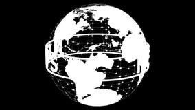 Зеленое ` новостей ` текста вращая вокруг прозрачной модели земли планеты перевод 3d иллюстрация вектора