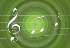 зеленое нот Стоковая Фотография