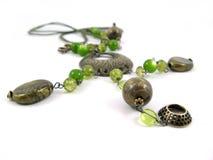 зеленое ожерелье Стоковое Изображение RF