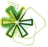 Зеленое письмо иллюстрация штока
