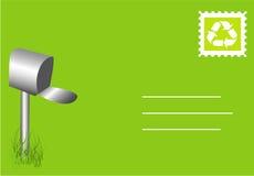 зеленое письмо Стоковое фото RF