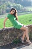 Зеленое платье Стоковая Фотография RF