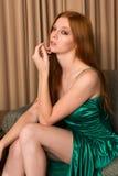 Зеленое платье Стоковая Фотография