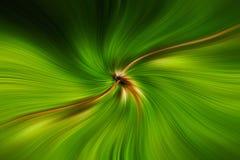 Зеленое поле линий двигая в космос Стоковое Изображение