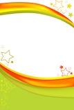 зеленое померанцовое swoosh Стоковое фото RF