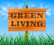 Зеленое прожитие значит иллюстрацию жизни 3d Eco Стоковое Изображение RF