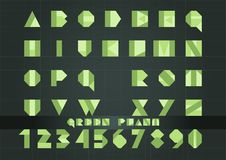 Зеленое растение шрифта Стоковые Изображения RF