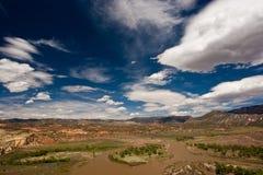 зеленое река ландшафта Стоковые Фотографии RF