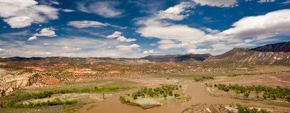 зеленое река ландшафта Стоковая Фотография RF