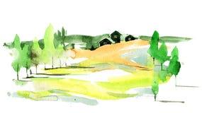 зеленое село Стоковые Изображения RF
