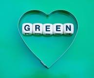 зеленое сердце Стоковое Фото