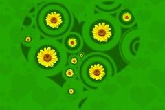 зеленое сердце стоковое изображение rf