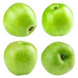 Зеленое собрание яблока комплект плодоовощ изолированный на whit Стоковые Фото