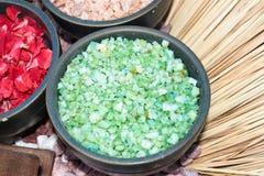 зеленое соль Стоковые Фото
