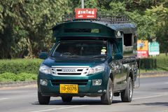 Зеленое такси Chiangmai грузового пикапа Стоковое фото RF