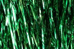Зеленое украшение рождества для ели, текстуры или предпосылки Стоковая Фотография RF