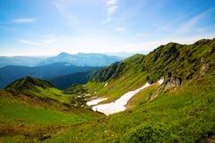 Зеленое ущелье горы Стоковые Изображения