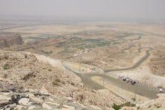 Зеленое Mubazarrah от Jabal Hafeet стоковая фотография