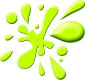 зеленое splodge краски Стоковые Фото