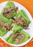 зеленые блинчики vegetable Стоковое Изображение