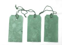 зеленые большие бирки 3 Стоковые Изображения