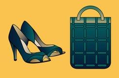 зеленые ботинки Стоковое Изображение