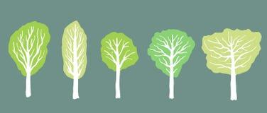 зеленые валы лета иллюстрация вектора