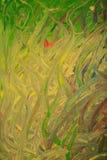 Зеленые водоросли и лягушка под нарисованной водой иллюстрация стоковые изображения