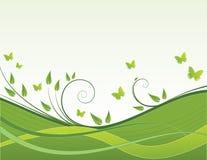 зеленые волны Стоковое Фото
