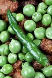 зеленые горохи пряные Стоковое Изображение RF