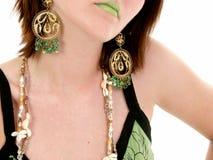 зеленые губы Стоковая Фотография