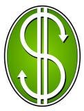 Зеленые деньги наличных денег знаков доллара Стоковая Фотография