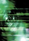Зеленые дикторы музыки Стоковые Изображения RF
