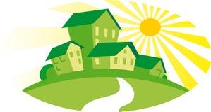 зеленые дома Стоковое Изображение RF