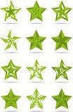 Зеленые звезды знаков Стоковая Фотография RF