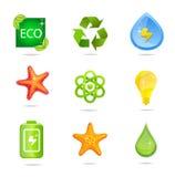 зеленые знаки природы Стоковые Фотографии RF