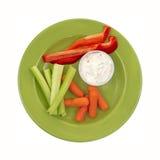 зеленые здоровые veggies плиты Стоковое фото RF