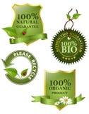 зеленые иконы Стоковые Фото