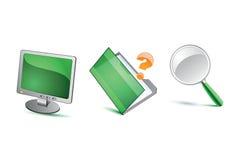 Зеленые иконы иллюстрация штока