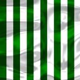 Зеленые и белые нашивки с яркими тенями 2 Стоковые Изображения RF