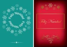 Зеленые и красные поздравительные открытки для рождества - vector предпосылки иллюстрация штока