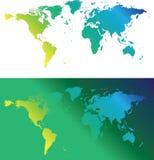 зеленые карты Стоковые Фотографии RF