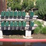 Зеленые коробки почты Стоковые Изображения